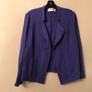 Chico's Purple Open Front Blazer